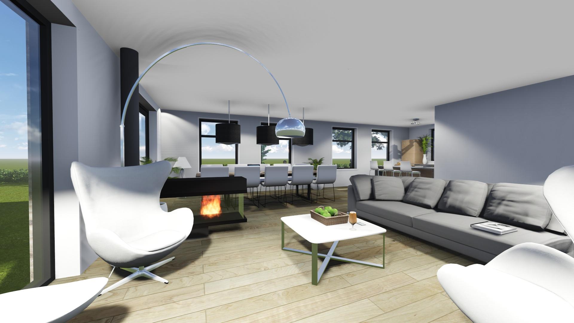 Woonkamer interieur woning Leeuwarden | Bernhard Kuiper | Visuals