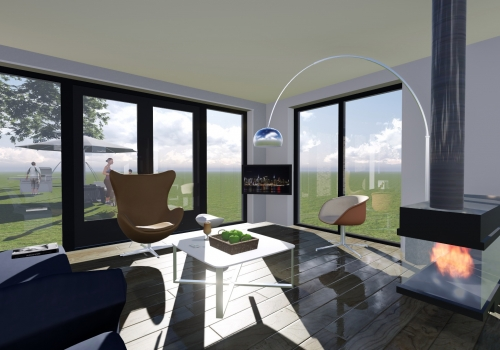 Woonkamer interieur woning Leeuwarden